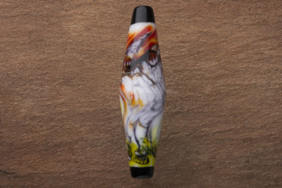 Handmade Lampwork Glass Focal Bead - Chilli Swirl